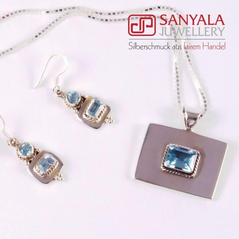 0018-0-S Sanyala Blue and Clear